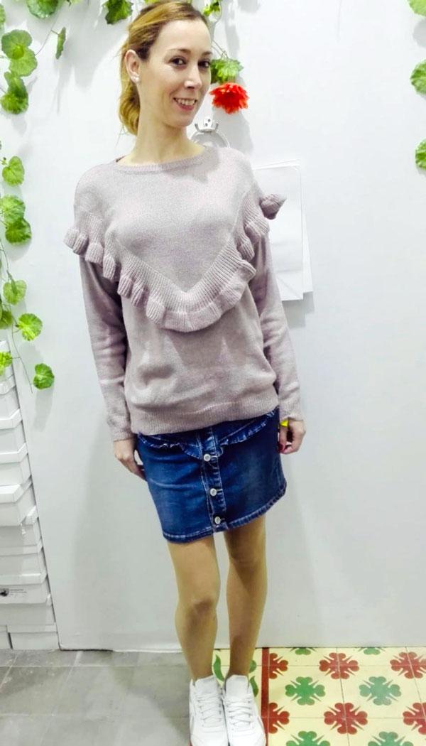 elegir original Precio reducido una gran variedad de modelos jersey-volante-rosa–falda-vaquera – Fiorella e Fiori